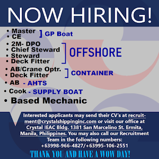 Available seaman job careers, maritime jobs updated for officer, engineer, rating