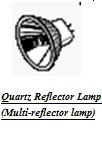 Quartz reflector lamps