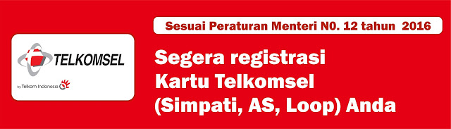 Cara Register Ulang Kartu Telkomsel Simpati, AS, Loop
