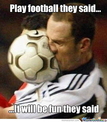 Play European Football Soccer It Will Be fun They Said - Superbowl / Football Memes Edition! Sort of, Not Really...  ;P Plus the Friday Frivolity LINKY PARTY - the blog link-up for all things Fun, Funny, Happy, and Hopeful!
