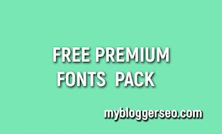 pacote premium de fontes gratuitas