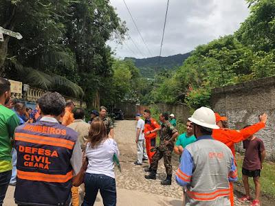 Mapa de área de risco da CPRM contribui para elaboração de Plano de Contingência de Alto dos Marianos, no município de Maranguape (CE)
