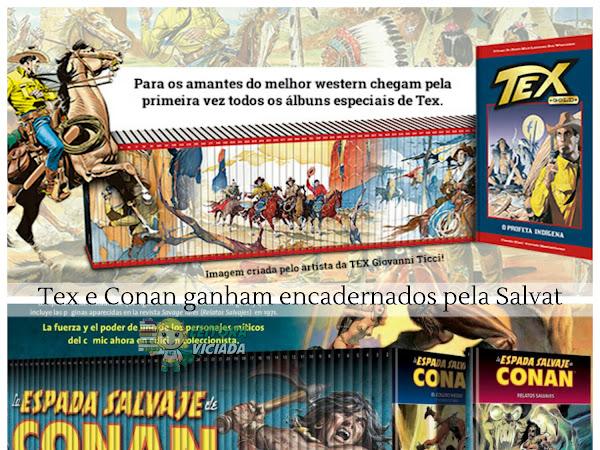 Novidades da Salvat: Coleções de encadernados do Tex e do Conan