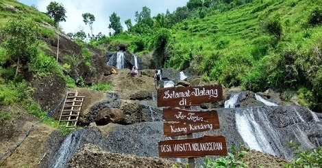 Air Terjun Kedung Kandang Nglanggeran Yogyakarta
