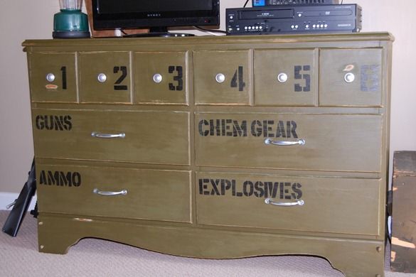 Paint Old Dresser And Use Vinyl Lettering