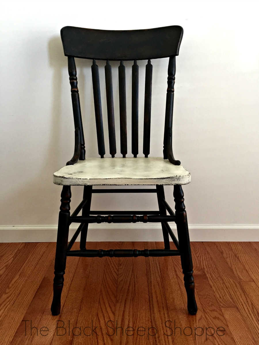 Rustic painted chair
