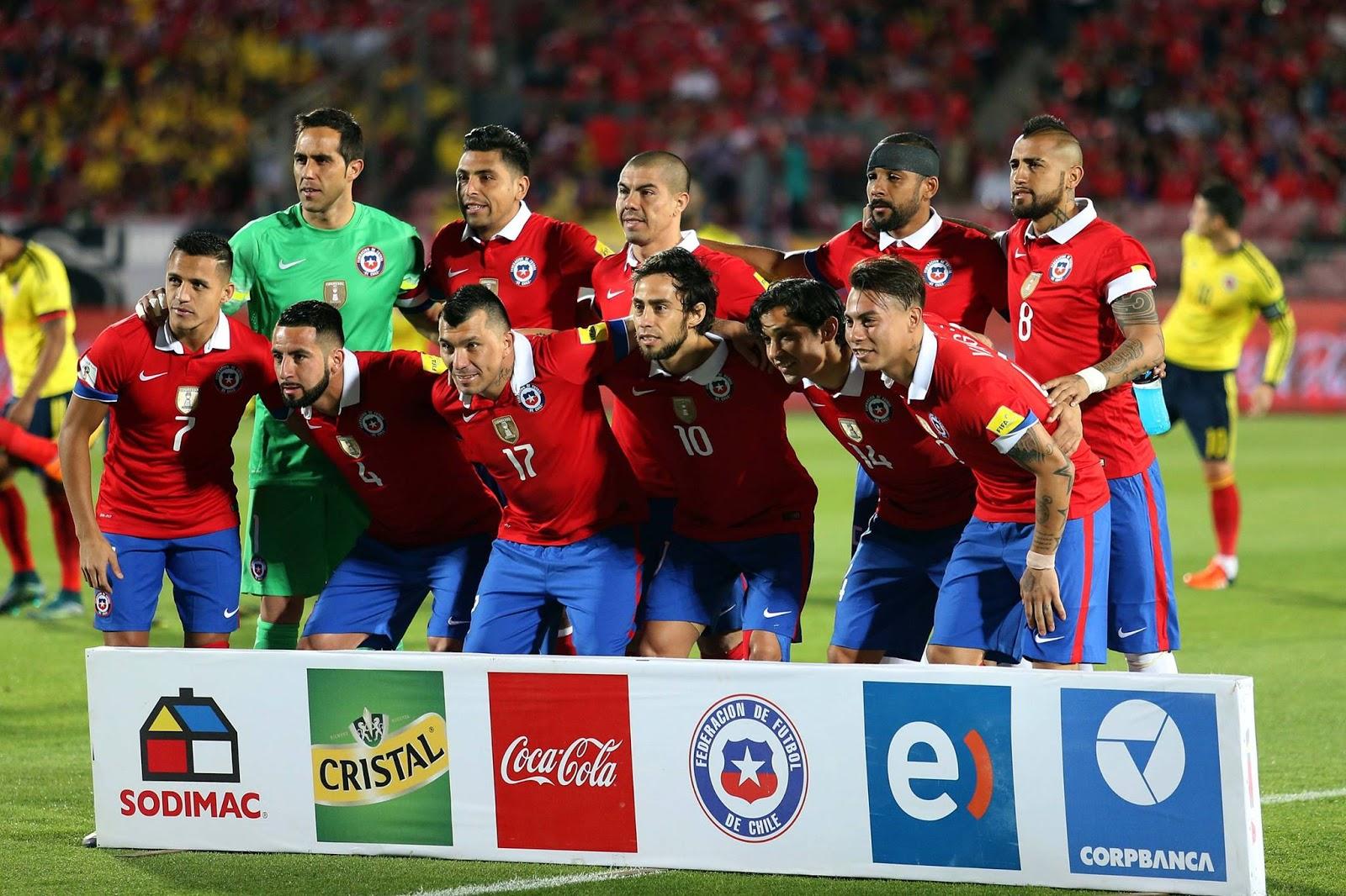 Formación de Chile ante Colombia, Clasificatorias Rusia 2018, 12 de noviembre de 2015