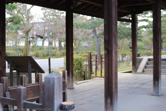 Traditional structures and wooden interior of Kyoto Protocol