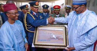 Buhari Unveils First Made In Nigeria Drone (Photos)