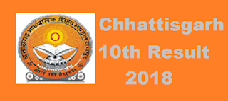 Chhattisgarh 10th Result 2018, CGBSE High School Exam Result 2018