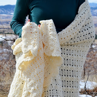 Crochet Prayer Shawl by Over The Apple Tree