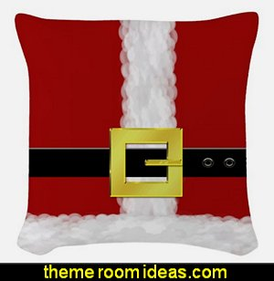 Santa Suit Woven Throw Pillow  North Pole Special Delivery Woven Polyester Lumbar Pillow