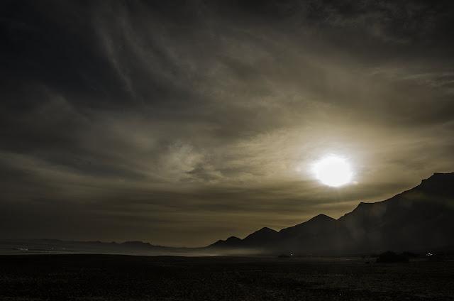 Playa de Cofete en Fuertventura. Amanecer en playa de Cofete.