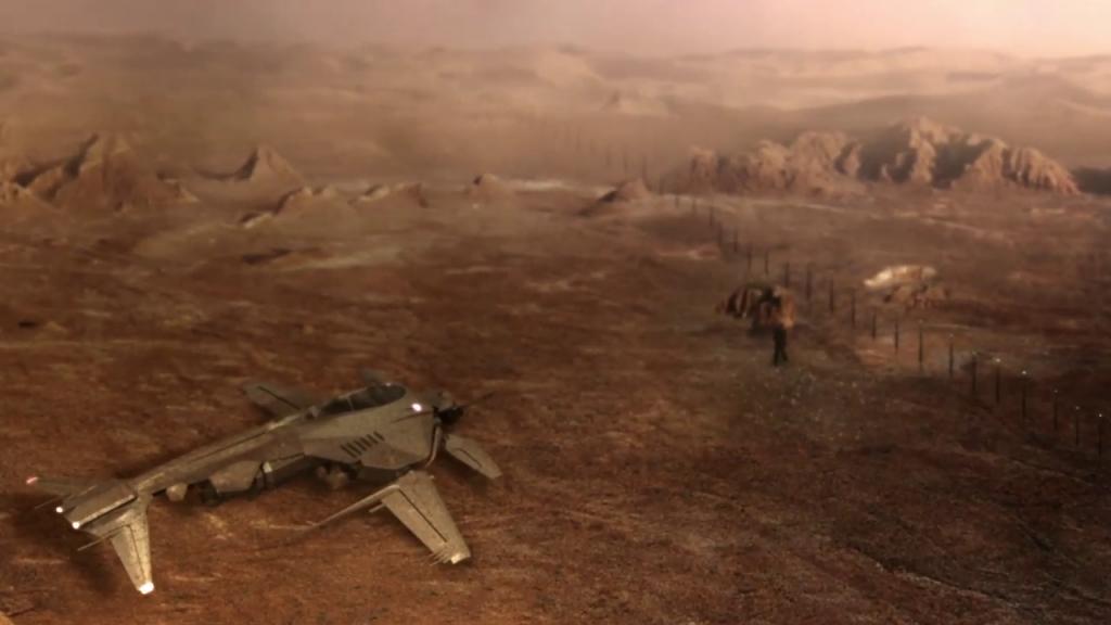 Red Faction Origins Mars ship