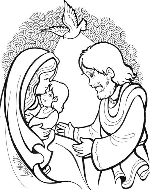 Maribel Seno De Reli Infancia De Jesus Dibujos Colorear