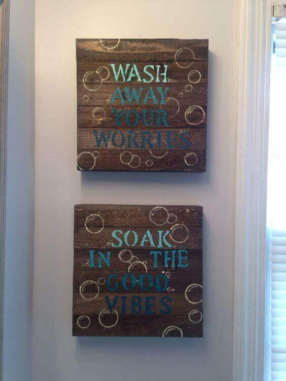 Diy bathroom wall decor