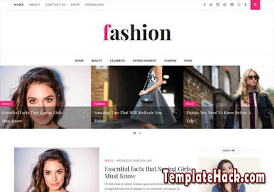 fashion clean blogger template premium