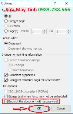 Đặt mật khẩu file PDF với Word - H09