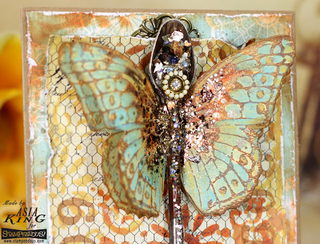 Mixed media upcycling assemblage