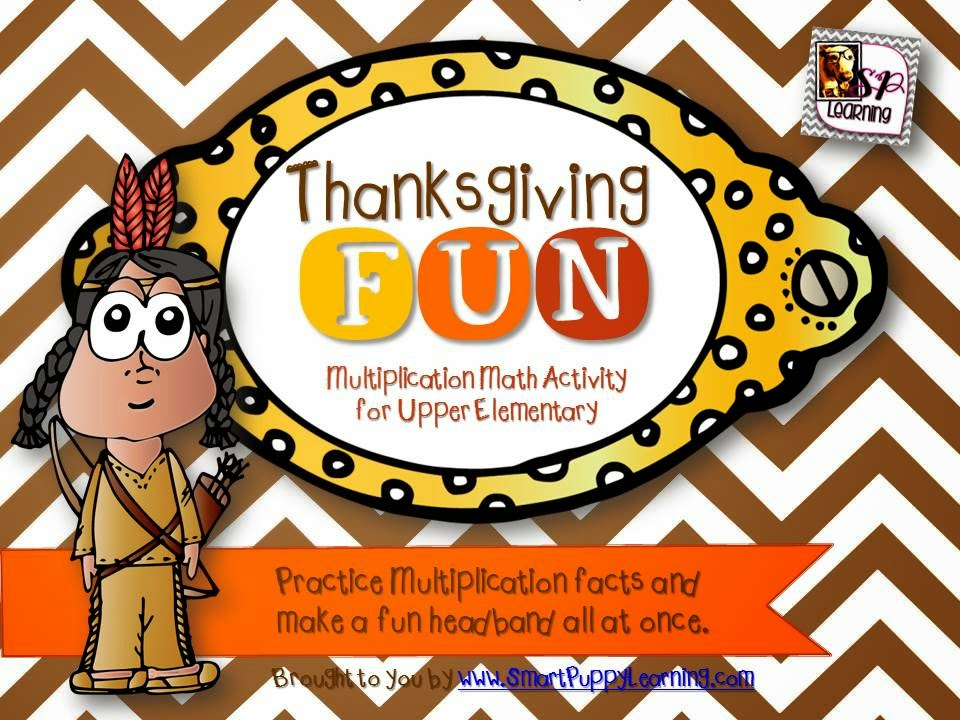 http://www.teacherspayteachers.com/Product/Thanksgiving-Multiplication-Practice-Native-American-Headband-1569268