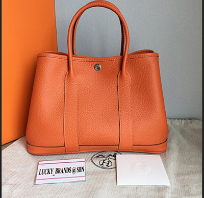 Tas Hermes Garden Party Leather 36 FEU Orange