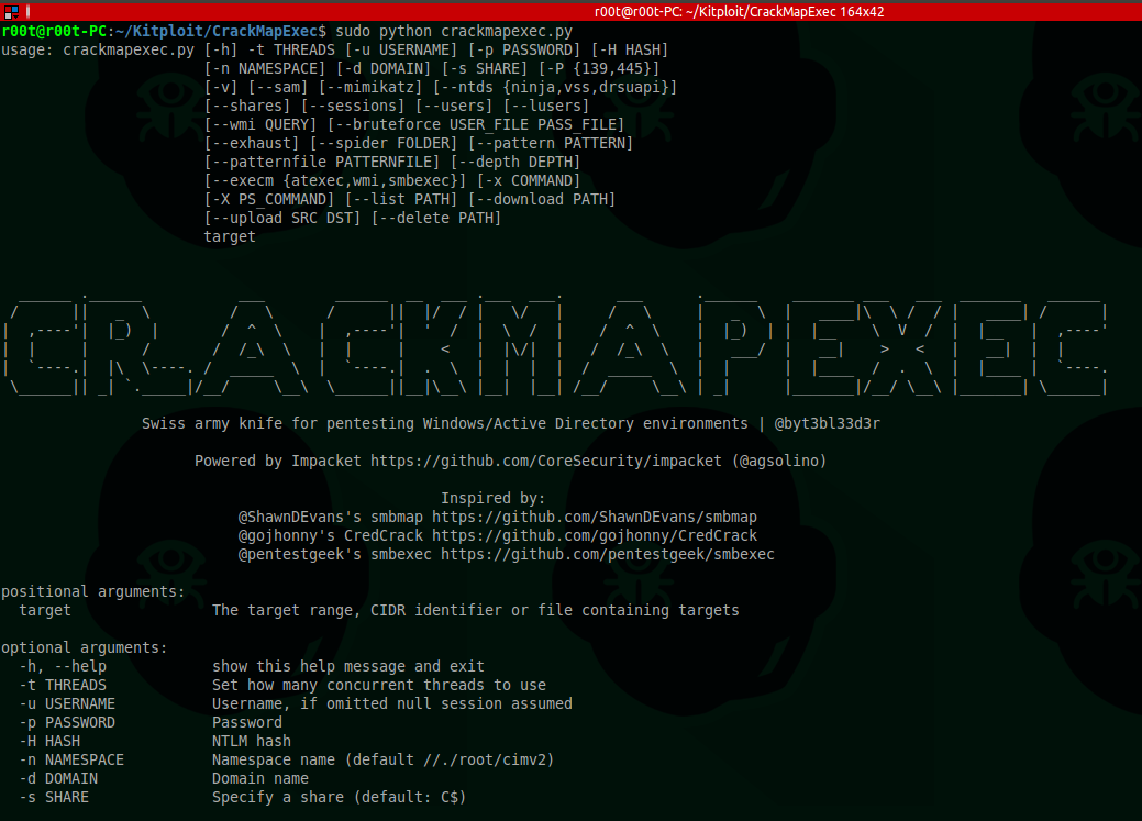 Crackmapexec A Swiss Army Knife For Pentesting Windows