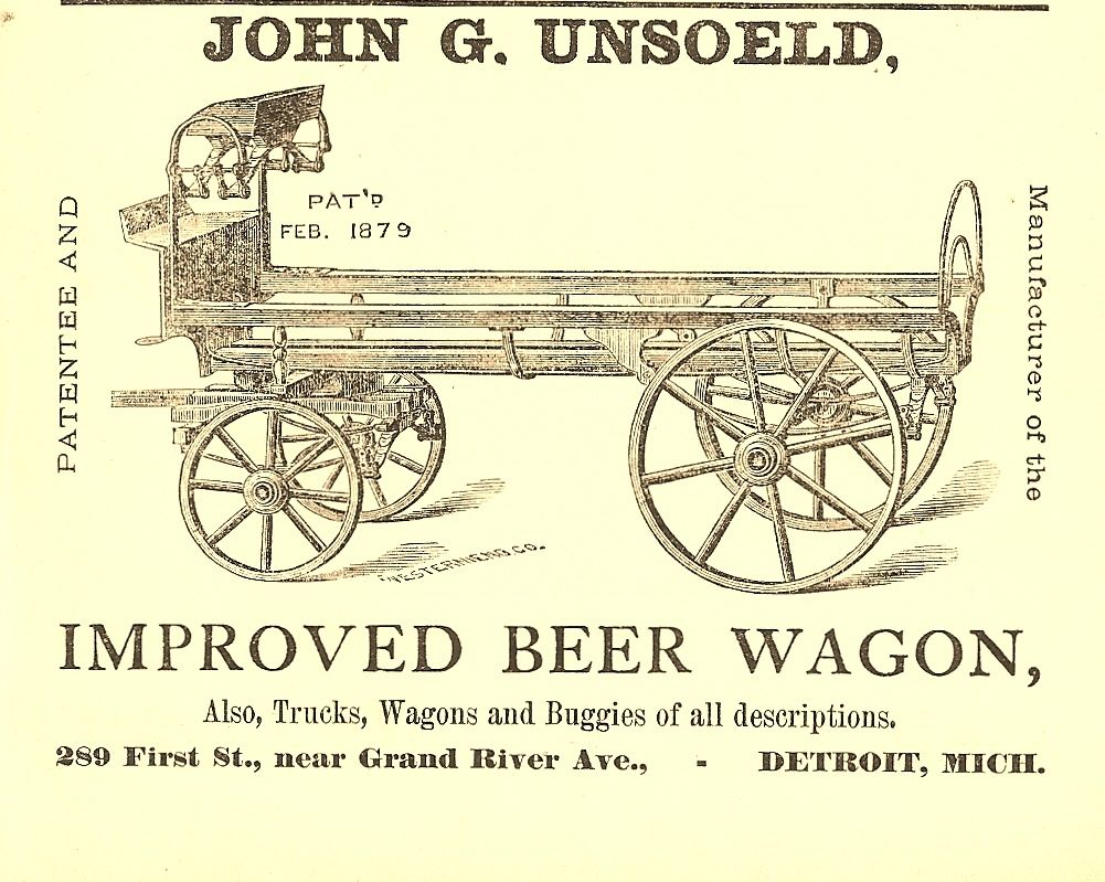 John G Unsoeld Was A Manufacturer In Detroit Michigan Of Trucks Wagons And Buggies All Descriptions About 1879 Set His Hand To Design