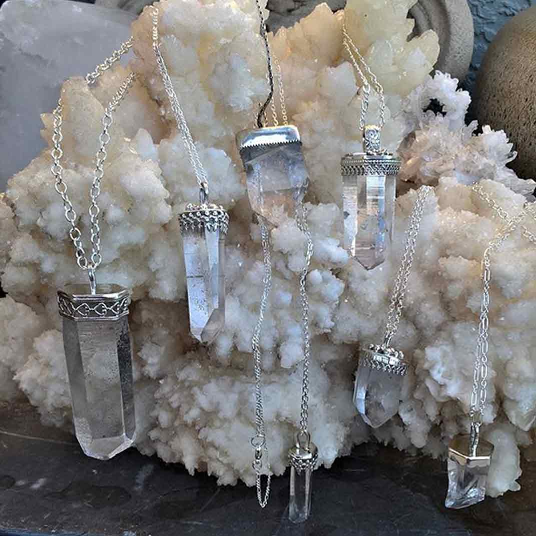 Quartz necklaces made custom for healing