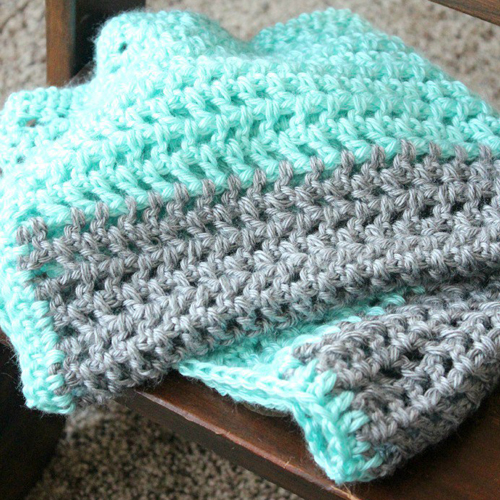 Free Crochet Patterns Childrens Blankets : Crochet For Children: On-The-Go Crochet Baby Blanket ...
