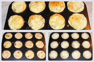 Cosulete de cartofi mini pzza si mini omleta preparare reteta,