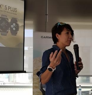 Chua is wearing the Fenix 5s Plus.