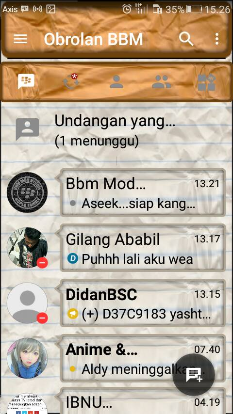 Download BBM Mod Kimochi Kertas Lungset New Version 3.2.0.6 Apk Terbaru Gratis