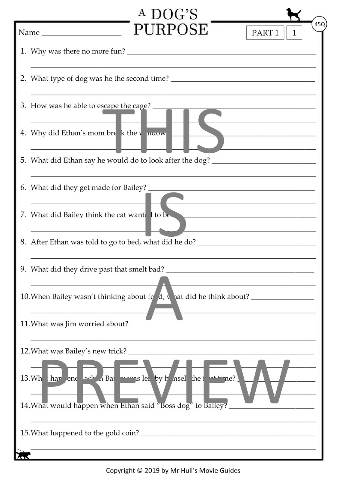 Movie Guides And Comprehension Questions