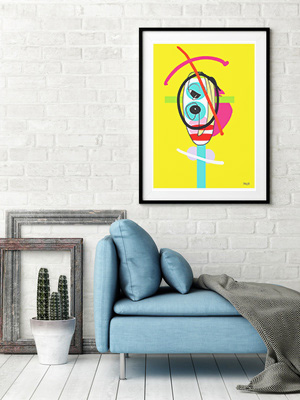 art print, artwork, buy art print, contemporary art print, original art print, abstract art print, portrait art print, large art print, modern art print, multi coloured art print, Sam Freek, geometric,
