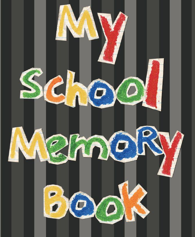 Sunday School Book Cover Page ~ First grade factory end of the school year memory book