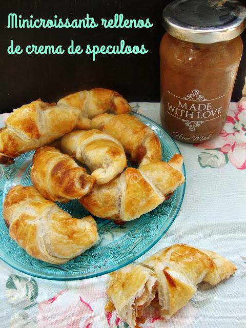 mini croissants rellenos de crema de spéculoos