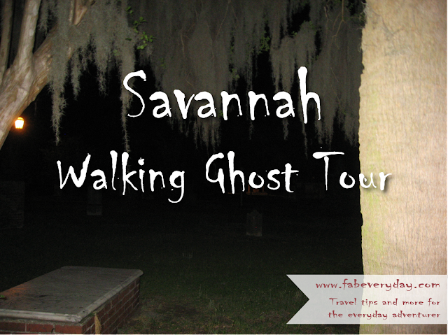 an itinerary for a long weekend inward Savannah DIY Savannah Walking Ghost Tour - The 12 Most Haunted Places inward Savannah
