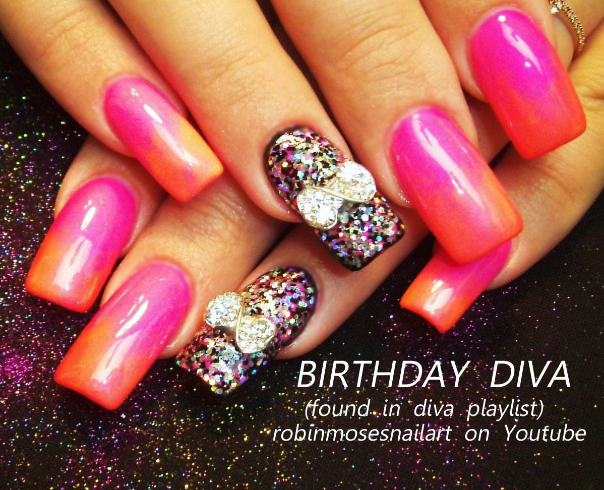 Nail Art by Robin Moses: dark shadows nail, birthday nails, hot ...