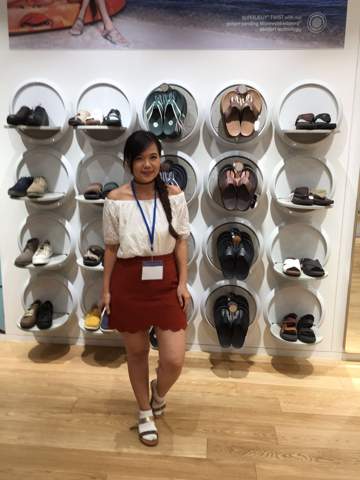 Challenge: find the product as per photo shown by the Sales Assistant then  we had to wore it and took a photo. On this first stop we also had to  record a ...