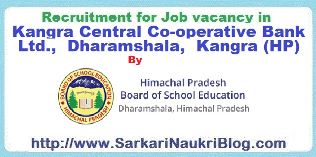 Naukri Vacancy Recruitment Kangra Bank by HPBSE