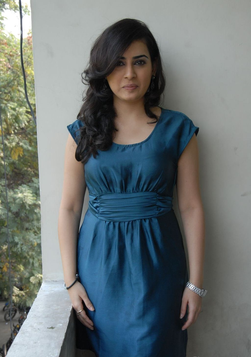 Archana Photo Shoot Stills In Blue Dress