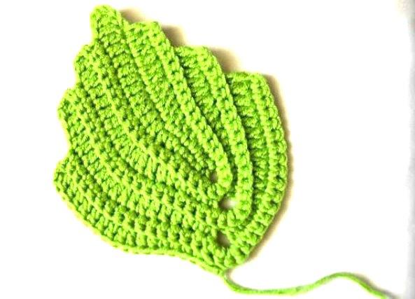patrones crochet On hojas de ganchillo paso a paso