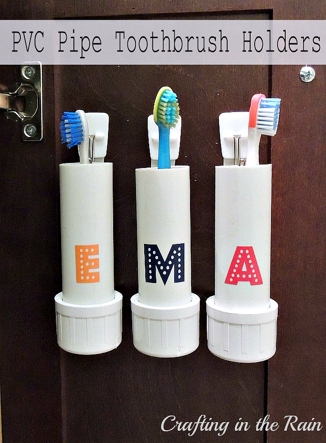 Pvc Pipe Toothbrush Holders Crafting In The Rain