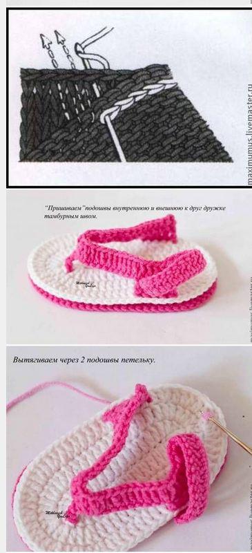 Cómo tejer sandalias crochet para bebé   Paso a Paso