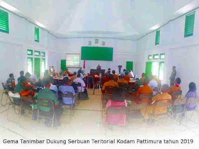 Gema Tanimbar Dukung Serbuan Teritorial Kodam Pattimura tahun 2019