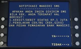 Gambar 7 Tutorial Daftar sms banking mandiri