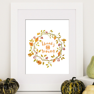 Free Watercolor Thanksgiving Printable | 8x10 Instant Download
