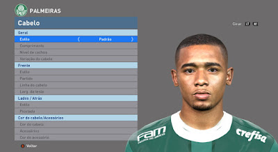 PES 2016 Gabriel Jesus Face by JR Facemaker