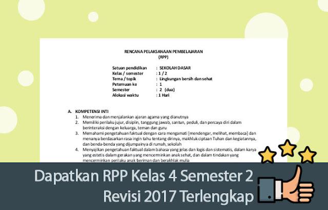 RPP Kelas 4 Semester 2 Revisi 2017