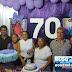 Dona Maria Isabel felicidades pelos seus 70 anos de idade